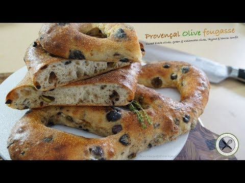 Taste of Provence – Olive Fougasse/FlatBread – Bruno Albouze – THE REAL DEAL