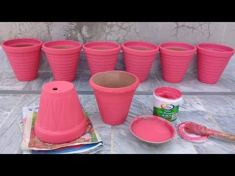 How to paint pots (gamla)   Clay pots painting tricks & techniques   Terracotta pots