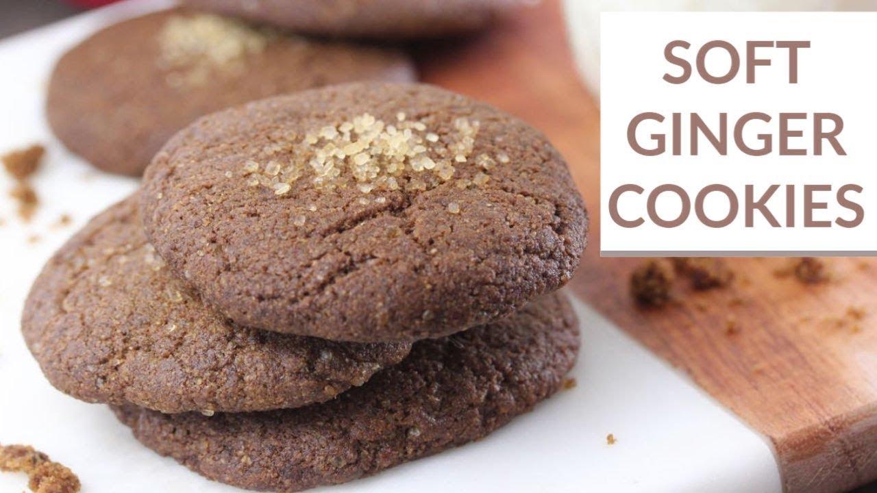 Soft Ginger Cookies Vegan Christmas Cookies