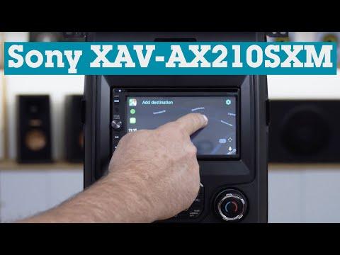 Sony XAV-AX210SXM In-dash DVD Receiver | Crutchfield Video
