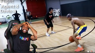 FLIGHT ONLY SCORED 1 POINT LMFAO! King of the Court vs Flight Reacts and Agent 00.. (intense)