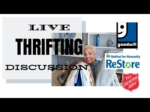 Caron1310 Live!!! THRIFTING DISCUSSION. Thrifting at Goodwill! Thrifted Furniture Makeovers!