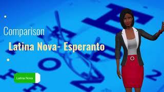 Comparison Latina Nova and Esperanto