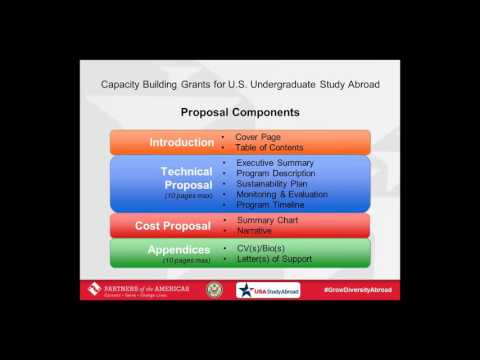 Proposal Tips webinar: Capacity Building Grants for U S  Undergraduate Study Abroad