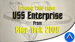 Drawing Time-Lapse - USS Enterprise (Star Trek 2009)