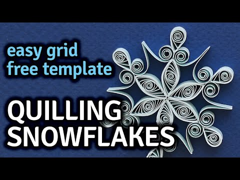 Quilling Snowflakes - Free Pattern and How To Tutorial