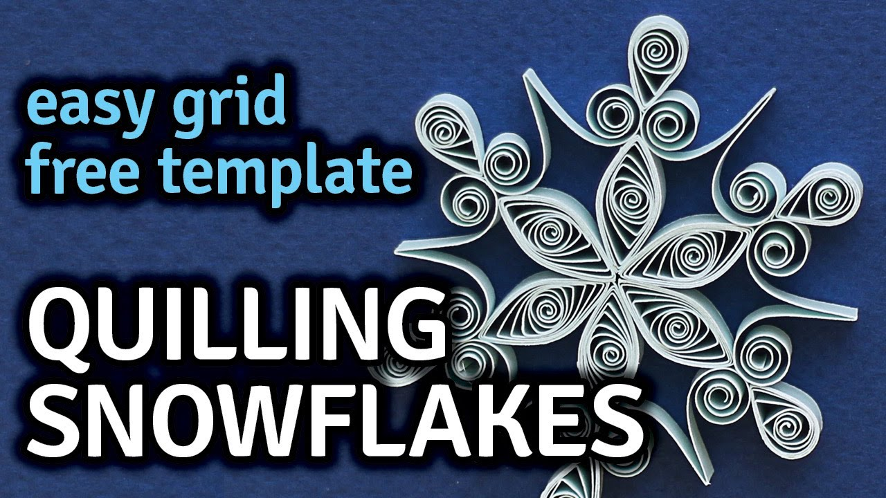 quilling snowflake patterns  Quilling Snowflakes - Free Pattern and How To Tutorial