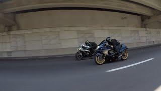 17 Yamaha R1M vs 18 Kawasaki ZX10R vs 08 Suzuki Hayabusa - Street Race