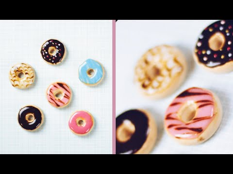 DIY DONUT MAGNETS ⦾ Polymer Clay Tutorial