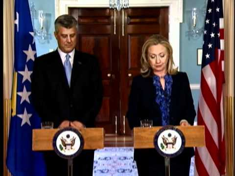 Secretary Clinton Delivers Remarks With Kosovan Prime Minister Thaci