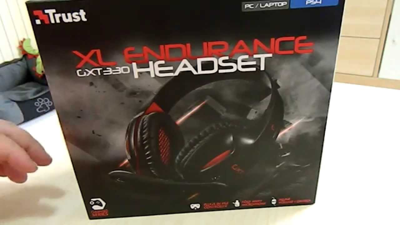 Cuffie Gaming PS4 Trust GXT330 XL EDURANCE headset UNBOXING - YouTube 67b74fee4703