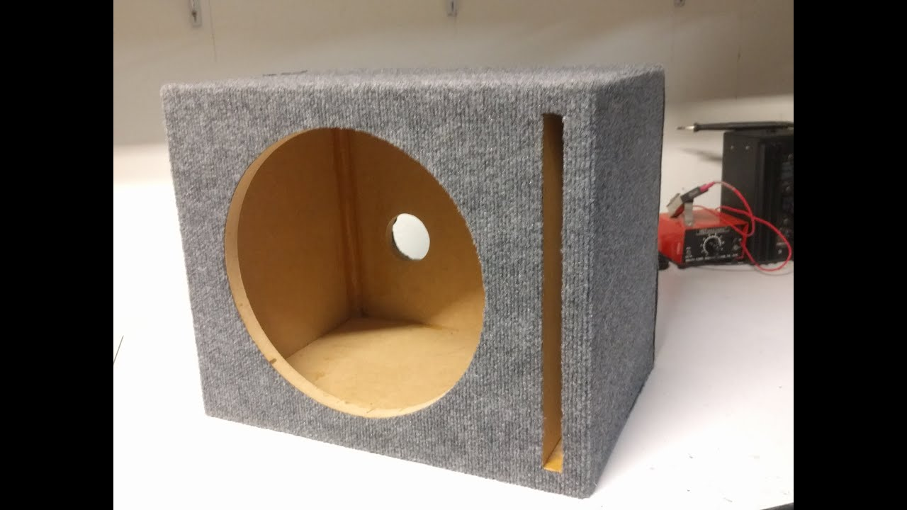 """How To Build A Sub Box >> 12"""" Ported Speaker Box Build Timelapse + Plans - YouTube"""
