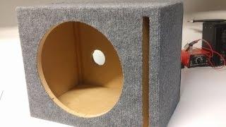 """12"""" Ported Speaker Box Build Timelapse + Plans"""