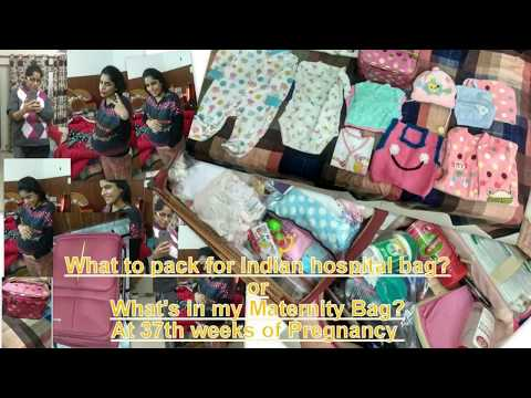 What's in my Hospital Maternity Bag for Labor & Delivery at 37th week {Hindi} (Indian Baby & Mom)