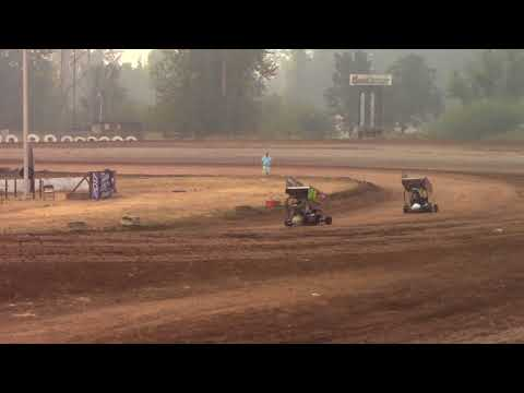 Cottage Grove Speedway, OR - King of the West - 125cc Cage-Kart Hot Laps - Sept. 3, 2017
