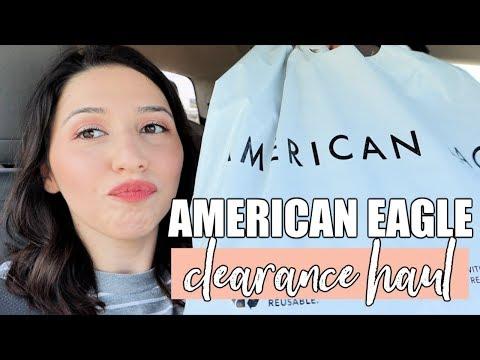 AMERICAN EAGLE CLEARANCE HAUL | VLOG