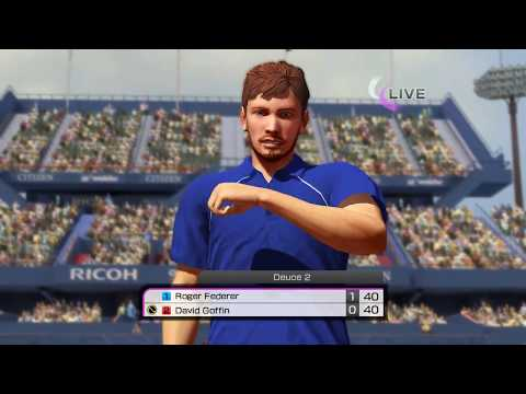 Virtua Tennis 4 Online Match - Me(Play as David Goffin) vs JollyTiger(Play as Roger Federer)