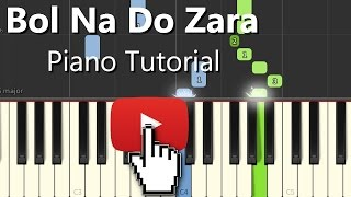 Bol Do Na Zara Azhar|Armaan|Hindi Song|Piano Chords Tutorial Instrumental Karaoke By Ganesh Kini