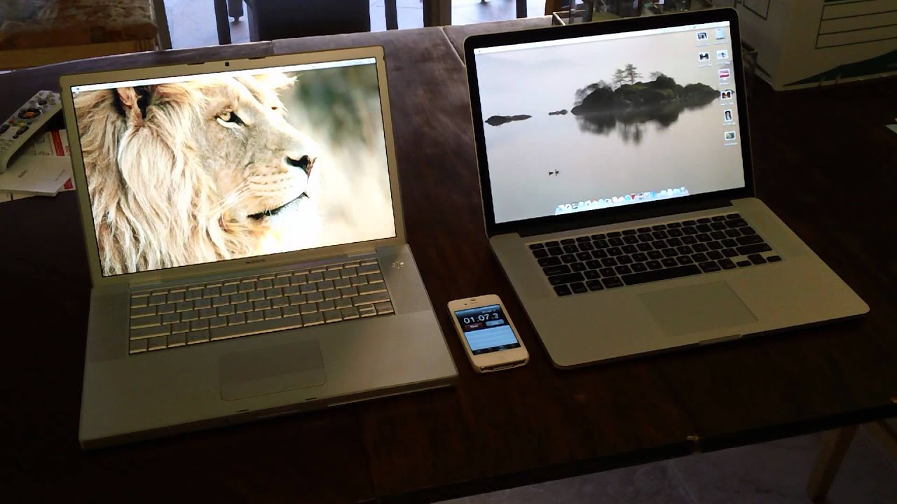 Retina Display MacBook vs. 2007 MacBook Pro - YouTube
