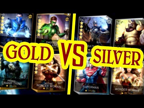 Injustice 2 Mobile. ARE GOLD CHARACTERS REALLY BETTER THAN SILVER??? Tips and tricks.