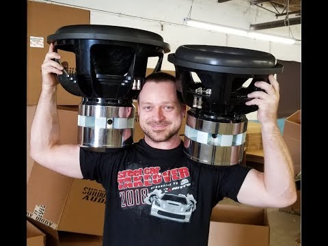 ***Thats a BIG B!+cH*** Team 18 Subwoofers Testing & Crating Sundown Audio