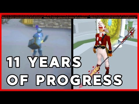 11 years of RuneScape progress - The Journey of an average player