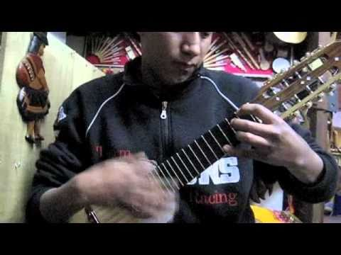 Fantastic Charango Playing in La Paz, Bolivia in Local Music Store