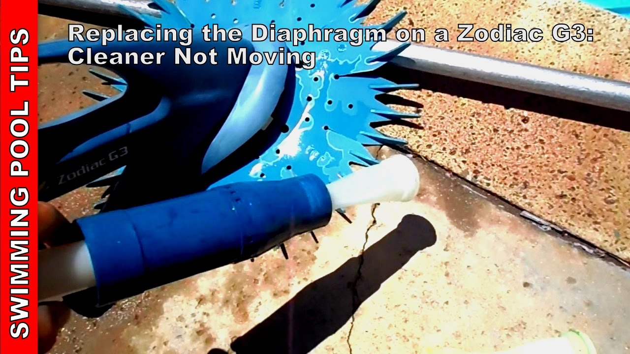 Replacing The Diaphragm On A Zodiac G3 Cleaner Not Moving Youtube