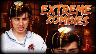 SMASHING RAW EGGS ON MY HEAD CHALLENGE - EXTREME ZOMBIES