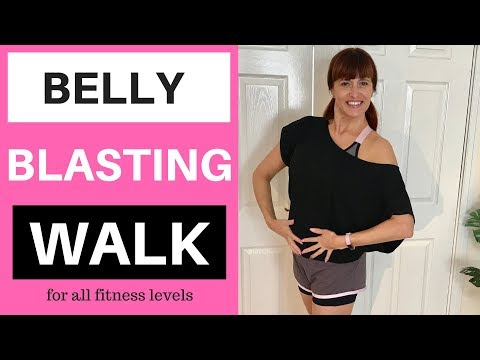 BELLY BLASTING WALK | WALKING WORKOUT TO LOSE BELLY FAT AND TONE YOUR WAIST