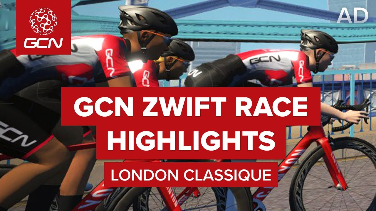 GCN's Zwift Live Racing Series #3 - Greater London Flat Course | GCN