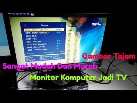 Monitor Komputer Jadi TV Parabola