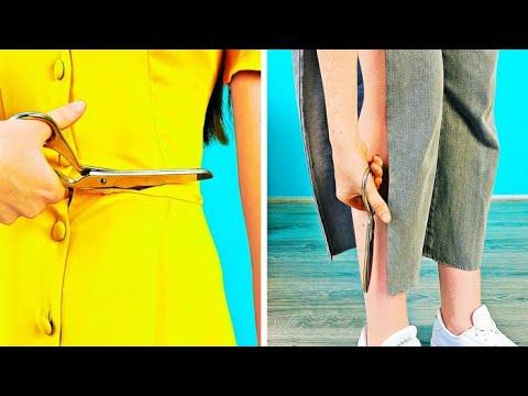 เปลี่ยนเสื้อผ้าเก่าๆของคุณให้กลายเป็นแฟชั่นใหม่ได้ด้วยแค่การตัด || ไอเดียการอัพเกรดเสื้อผ้า DIY