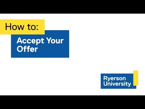 Approved Students - Admissions - Ryerson University