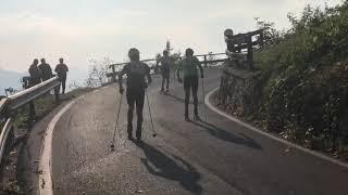Allenamento skiroll in gara  Nozza- Belprato  13-10-2018