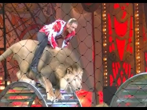 The unique circus tricks performed by the animals and artists amazed the Moscow public