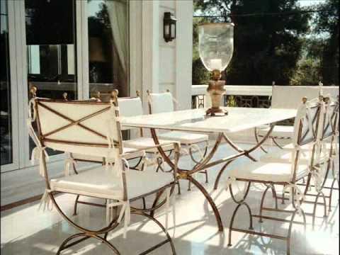 luxury σφυρήλατα έπιπλα κήπου: γωνιακά σαλόνια
