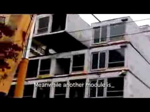 Prefab Modular Apartments Are Assembled