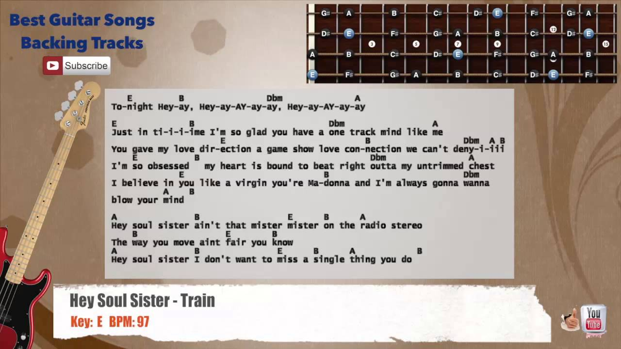 Hey soul sister train bass backing track with scale chords and hey soul sister train bass backing track with scale chords and lyrics hexwebz Gallery