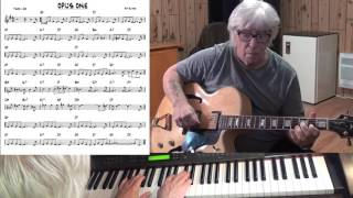 OPUS ONE - Jazz guitar & piano cover ( Sy Oliver )