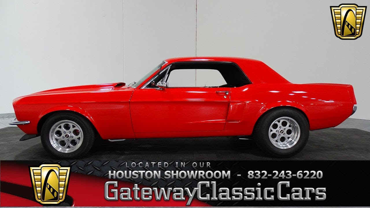 1968 ford mustang gateway classic cars 833 houston showroom youtube. Black Bedroom Furniture Sets. Home Design Ideas