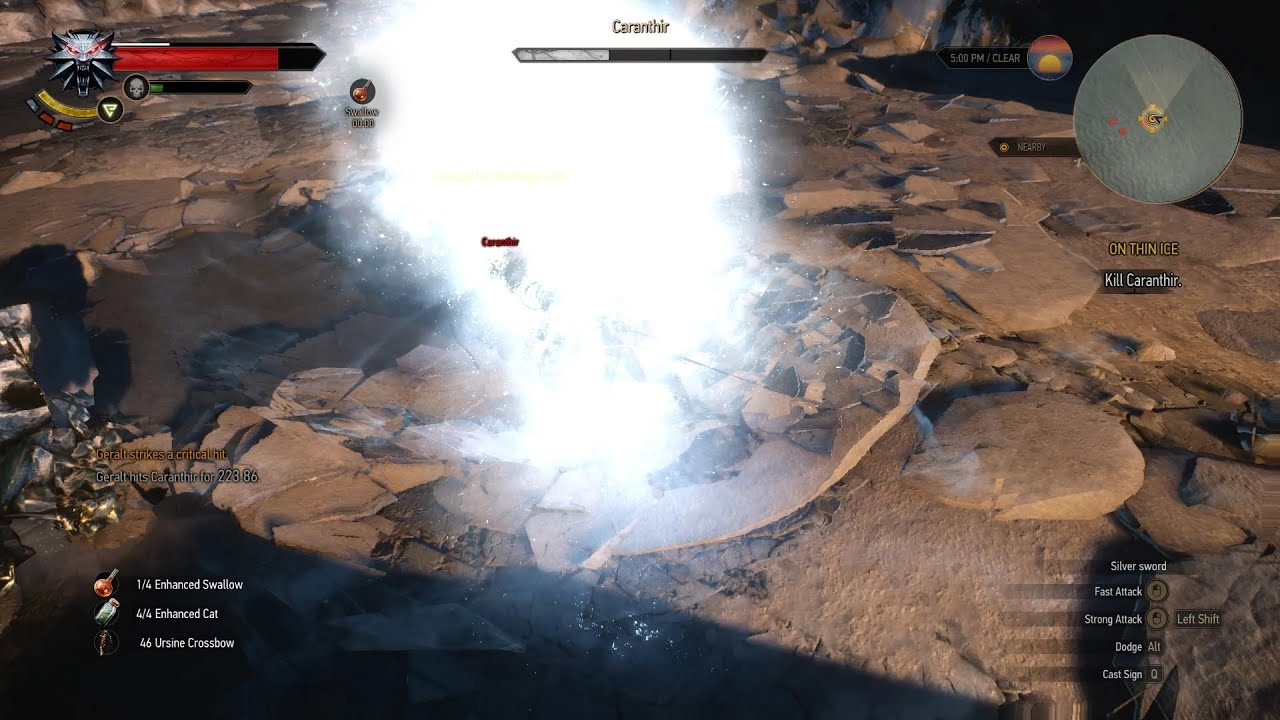 The witcher 3 caranthir fight kill death march level - The witcher 3 caranthir ...