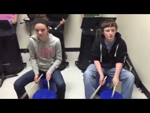 Cool Bucket Drumming by Hilldale Middle School Percussion Ensemble