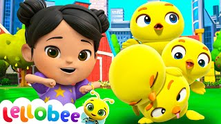 Five Little Ducks! | Lellobee: Nursery Rhymes & Baby Songs | Learning Videos For Kids | ABCs &123s