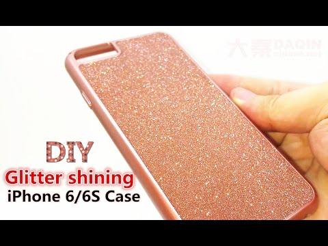diy-dubai-luxurious-glitter-shining-dark-pink-iphone-6/6s-mobile-case