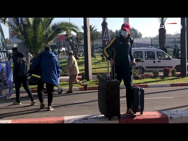 هكذا غادر لاعبو الإسماعيلي المغرب عبر مطار محمد الخامس صباح اليوم بعد الهزيمة الثقيلة أمام الرجاء