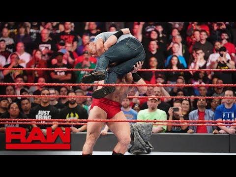 Lars Sullivan debuts on Raw to attack Kurt Angle: Raw, April 8, 2019