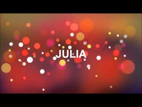 grattis julia GRATTIS PÅ FÖDELSEDAGEN JULIA   YouTube grattis julia
