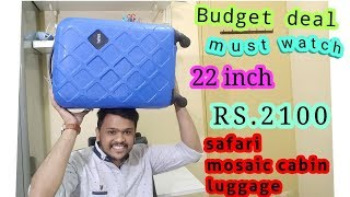 Safari 22 inch Cabin Luggage Review | unboxing trolly bag aditube compact luggage checkin luggage