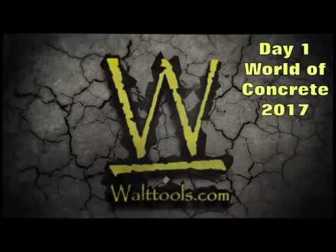 Walt Tools Booth Build 5 days at the World of Concrete 2017